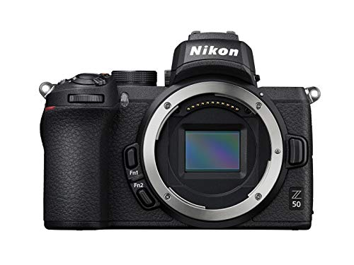 Nikon Z 50 Spiegellose Kamera im DX-Format (20,9 MP, OLED-Sucher mit 2,36 Millionen Bildpunkten, 11 Bilder pro Sekunde, Hybrid-AF mit Fokus-Assistent, ISO 100-51.200, 4K UHD Video)