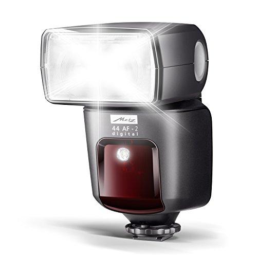 mecablitz 44 AF-2 für Nikon Kameras (DSLR und CSC) | Blitzgerät mit i-TTL, Leitzahl 44, HSS (High Speed Sync), Hochleistungs-LED