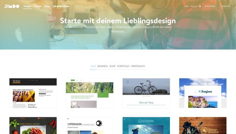 Marketing für Fotografen - jimdo-baukastensystem-fotografen Grafik