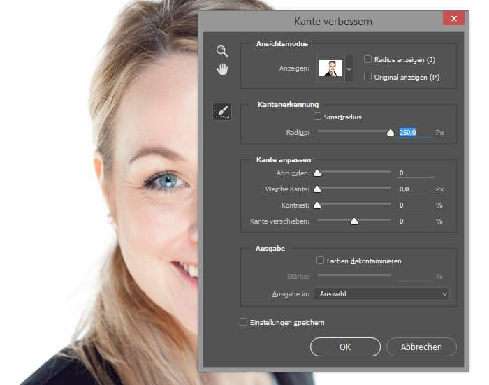 Business Portrait - photoshop-auswahlverbessern